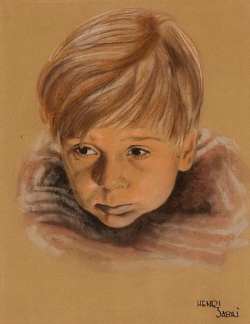 a portrait of jackie cooper as skippy by henri sabin