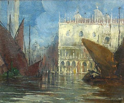 a view of the doges palace venice by gennaro favai