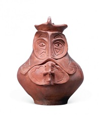 a pot with human face by a-sun wu