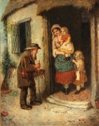 at the cottage doorway by mark william langlois
