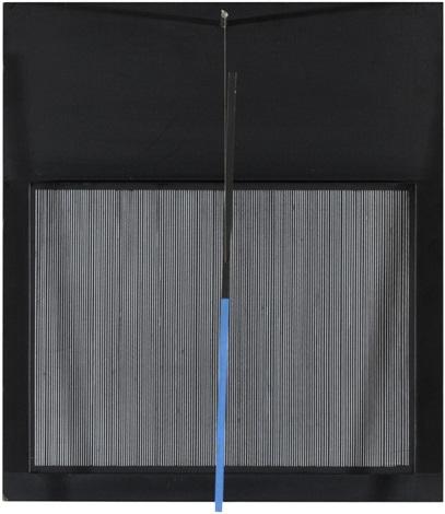 incliné bleu et noir by jesús rafael soto
