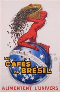 plakat: les cafés du brésil alimentent l'univers by jean d'ylan