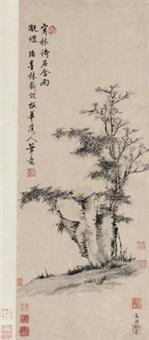 效梅道人笔意 立轴 设色纸本 by xiang yuanbian