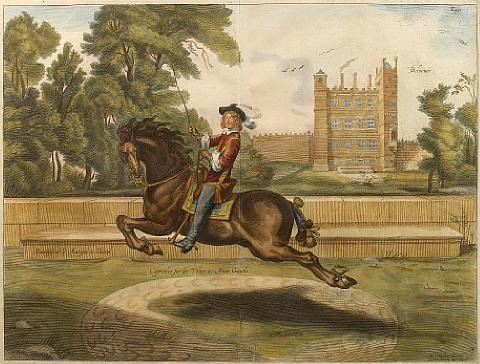 equestrian scenes 4 works by william cavendish