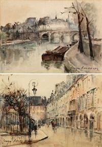 la place des vosges (+ an der seine; pair) by georges dominique rouault