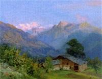 berglandschaft bei sonnenaufgang by eduard buhler
