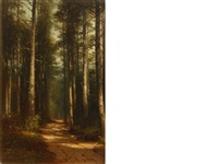 path through the forest by benjamin champney
