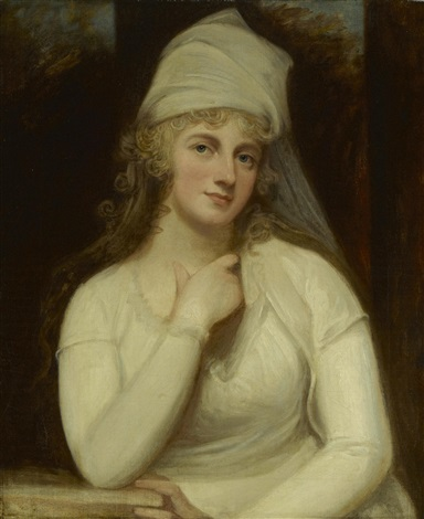 a portrait of anne marchioness townshend half length by george romney
