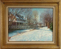 lambertville station from the canal by tatiana alexeeva