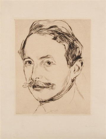 dr max linde from max lindes house 1902 by edvard munch