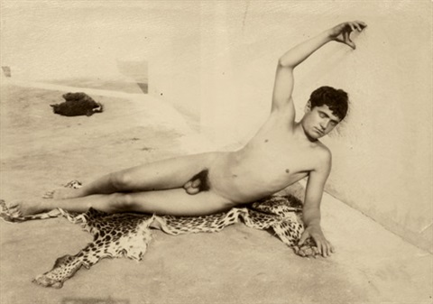Studio nude young male size cock