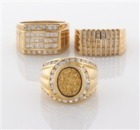 a collection of rings (set of 3) by krementz