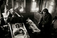 villagers mourning dead civilians near moscow by galina sankova