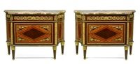 commodes (pair) by jean-françois leleu