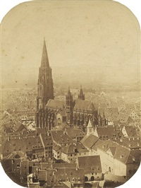 freiburg münster from the schlossberg. lightly by georg theodor hase