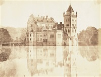 views of the moated castle anif near salzburg (+ 2 others; 3 works) by andreas groll