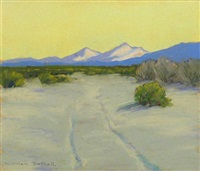smoke trees and mt. san jacinto (pair) by charles worden bethell