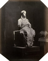 demeter statue, british museum by w. a. mansell