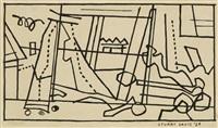 new jersey landscape (seine cart) by stuart davis