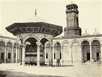 ablution fountain in the courtyard of the mosque of mohammed ali by wilhelm hammerschmidt