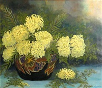 yellow chrysanthemums by jeanne laurence