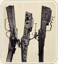 three ornately decorated rifles by andreas groll