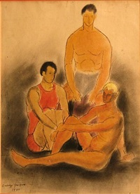 three male figures by oronzo gasparo