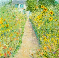 garden path in summer by duane alt