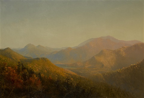 mountains and lake in autumn by sanford robinson gifford