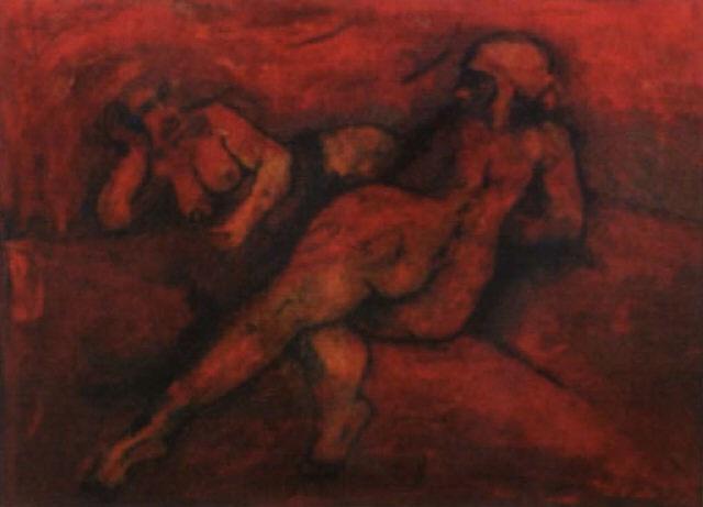 zwei weibliche akte by eduard diem