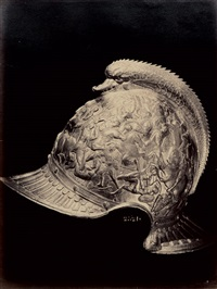 oriental helmet (+ armeria de madrid. casque du roi de france, françois ier; 2 works) by jean laurent