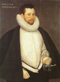 a portrait of an elizabethan nobleman by hans eworth