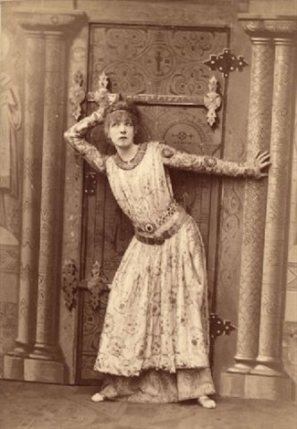 the actress sarah bernhard in her role as theodora another as the duc de reichstadt in laiglon 2 works by paul nadar