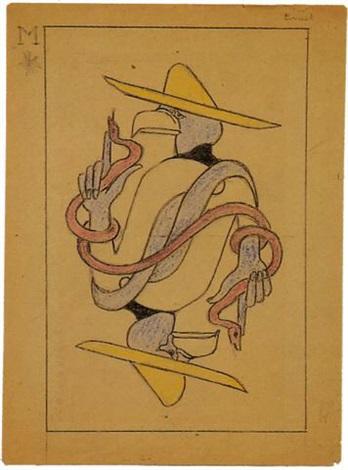 DE L'ART ...OU DU COCHON ? - Page 10 Max-ernst-le-jeu-de-marseille:-projet-de-carte:-pancho-villa