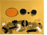orange oval by adolph gottlieb