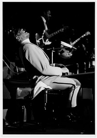 ray charles at the piano, berliner sportpalast by axel benzmann