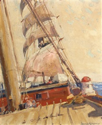 study for under sail by joe duncan gleason