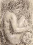 seated woman by leo gestel