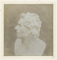 bust of patroclus from the pencil of nature by william henry fox talbot