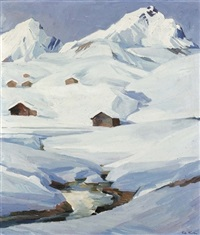 landschaft in arosa by giovanni müller