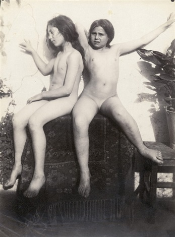 Two Nude Girls By Guglielmo Von Pluschow