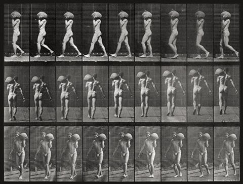 man carrying a ball pl.26 (from the animal locomotion series) by eadweard muybridge