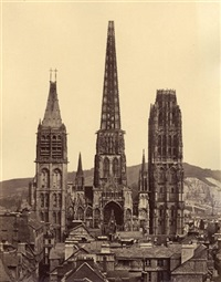 view of rouen (+ 7 others; 8 works) by achille quinet