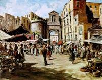 an italian market scene by carlo ciappa