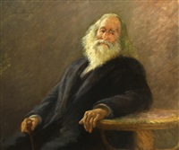 portrait of the artist's father by anna elisabeth klumpke