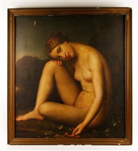 nude in moonlight by joseph (guiseppe) fagnani