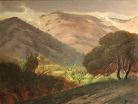 rolling hills and oaks, marin by jules r. mersfelder