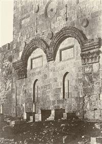 jerusalem, enceinte du temple, porte dorée by auguste salzmann