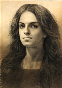 portrait of a woman by steven assael
