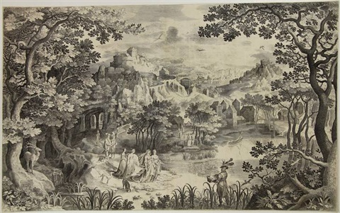 the finding of moses by nicolaes de bruyn